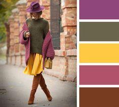 35 лучших сочетаний цветов в одежде - потрясающая подборка-шпаргалка!