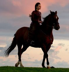 Carey Mulligan's (pictured) very first scene in Far From The Madding Crowd, she is seen racing through the wood on horseback