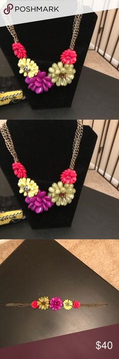 NWT KATE SPADE Clear As Crystal Short Floral Flower Cluster Collar Necklace