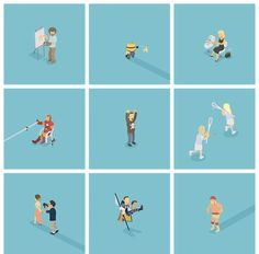 Designers Create Tiny Illustrations Of Pop Culture Characters Every Day - DesignTAXI.com