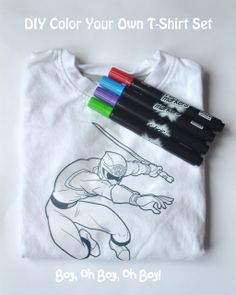DIY Color Your Own Shirt  Could washable markers work?