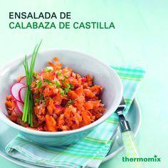 Así queda la Ensalada de Calabaza de Castilla, lo mejor el tiempo de preparación 15 min en #Thermomix