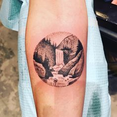 Waterfall tattoo. It's actually an album cover from my favorite band!