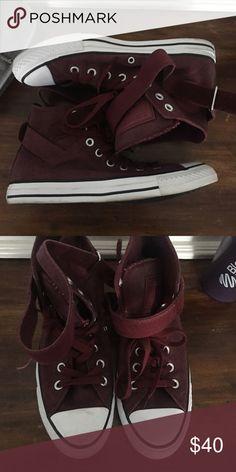 f32509eb4eda Shop Women s Converse Red White size 9 Sneakers at a discounted price at  Poshmark. Description  Burgundy with lights up converse hightops.
