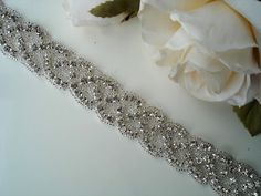 Bridal Sash Belt Crystal wedding sash Crystal sash by TIdesigns
