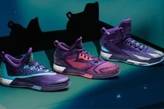 online retailer 3779f d3517 Adidas Crazylight Boost, D Lillard 2 and D Rose 6 Aurora Borealis Sneakers  Sports Shoes