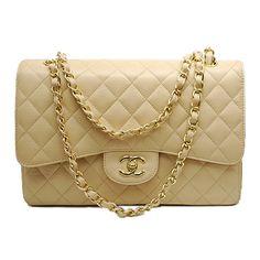 ff91dd86c Bolsa Chanel - Double Flap Bege Couro - www.modagrife.com Rosa, Polyvore