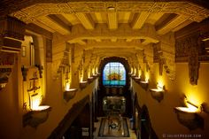 The beautiful ceiling of the Marine Building, Vancouver