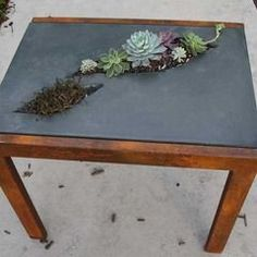 Concrete Furniture - Concrete and Steel Gallery - 5 Feet from the Moon