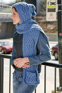 Hooded Scarf with Pockets by Cathy Payson - for me???
