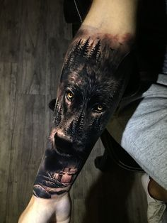Best Wolf Tattoo Ideas - Wolf Tattoo Design Ideas with Meaning - Wolf Tattoos are chosen by exceptionally strong individuals, who are always prepared to defend thei - Wolf Tattoo Forearm, Forarm Tattoos, Forearm Sleeve Tattoos, Best Sleeve Tattoos, Tattoo Sleeve Designs, Tattoo Designs Men, Body Art Tattoos, Hand Tattoos, Tattoo Wolf