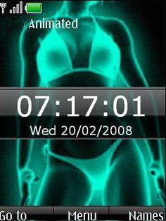 Download free Animated Xray Bikini Clock S40 Theme Mobile Theme Nokia mobile theme. Downloads hundreds of free 6300,6267,6500 classic,6555,6301,6500 slide,6300i,6600 slide,6600 fold,6270,6280,6282,6700 classic,6303 classic,6600i slide,X6,X3,6303i classic themes to your mobile.