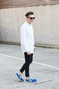 Ray Ban Sunglasses, Uniqlo Shirt, Michael Kors Watch, Cheap Monday Jeans, New Balance Sneakers