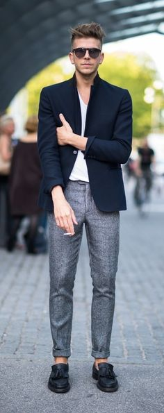 Rolled Pant Legs + Blazer