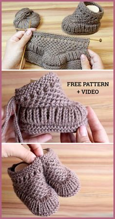 Freie strickmuster knitting patterns knit warm baby booties free knitting pattern + video knitting pattern baby booties free freiestrickmuster knit knitting pattern patterns video warm how to knit fruit citrus slices with free pattern + video Baby Booties Knitting Pattern, Crochet Baby Booties, Knitting Patterns Free, Knit Patterns, Free Knitting, Knit Crochet, Knit Baby Shoes, Kids Knitting, Knitting Toys