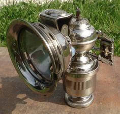 """Karbidlampe """"Radsonne""""  Hersteller: Peter Schlesinger Metallwarenfabrik mit Sitz in Offenbach am Main"""