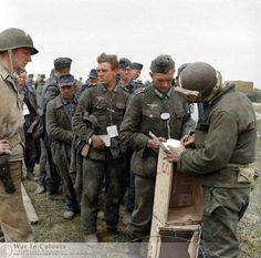 German prisoners of war (POWs) captured during D-day+2. 8.6.1944