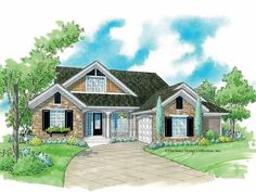 Eplans Cottage House Plan - French Country Elegance - 1487 Square Feet and 3 Bedrooms from Eplans - House Plan Code HWEPL06492