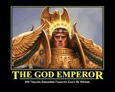 The God Emperor of mankind