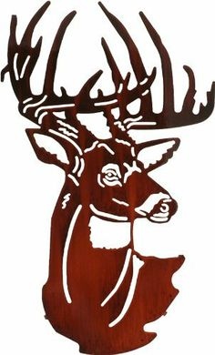 """24"""" Lazart Metal Wall Art Wall Decor - Fall Buck Head by Laser Wall Art & Home Décor. $119.00. Easy hang hooks located on the back of the art piece. Made in the U.S.A. Laser Cut Metal Wall Art. Laser cut from cold rolled steel, these wall art pieces are hand finished in beautiful color mosaics or acid washed to achieve a finish that is elegant and timeless.. Save 21%!"""