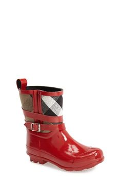Burberry 'Holloway' Rain Boot (Toddler & Little Kid) available at #Nordstrom