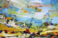 German Expressionism in its most exuberant glory - Hubert Roestenburg paints the way Hemmingway writes - German Expressionist Painting: Eifel Summer Image Search, German, Abstract, Landscapes, Painting, Art, Deutsch, Summary, Paisajes