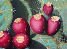 Ripe Prickly Pears by Karen Budan Pastel ~ 9 x 12