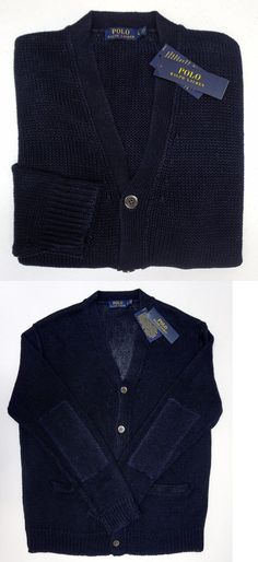 Sweaters 11484: Men S Polo Ralph Lauren Extra Large Navy Blue ...
