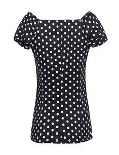 6b72610e353 Zeagoo Womens Vintage Cap Sleeve Polka Dot Blouse Cocktail Party Casual Shirt  Tops at Amazon Women's