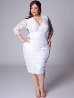 Curves are Sexy! White glam dress big curvy plus size women are ...