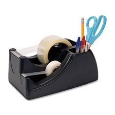 Awesome for your desktop! 2-in-1 Heavy Duty Tape Dispenser for 2 in and 3/4 in Rolls
