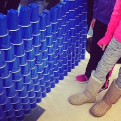 A week of indoor recess? Not a problem when you buy a gazillion cups for your 5th graders to stack!