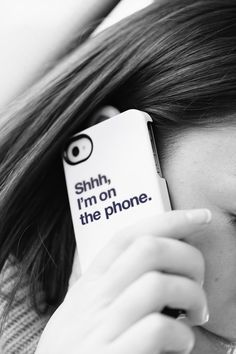 A case for iPhone or iPod that says Shhh I'm on the phone Cool Iphone Cases, Cool Cases, Cute Phone Cases, Funny Phone, Coque Ipad, Coque Iphone, Iphone Phone, Gadgets, Holiday Logo