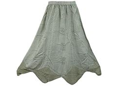 Womans Maxi Skirt Stonewashed Emroidered Long Skirt Peasant Gypsy Skirts Mogul Interior http://www.amazon.com/dp/B00WEGWVO6/ref=cm_sw_r_pi_dp_8JWnvb0EF0QVJ
