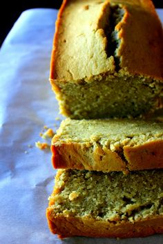 green tea coconut pound cake by @MommaCuisine