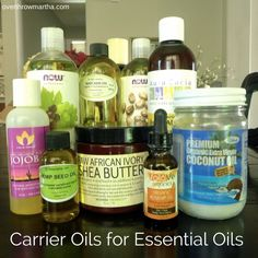 Scroll to bottom for dilution and recipes. Types of carrier oils that can be used for essential oils