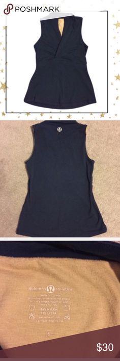 "Lululemon Tank Top (FW23H18K) Dark blue. Fits very snug . Bust 34"", waist 26,5"", hip 37"". Offers welcome. No trade lululemon athletica Tops Tank Tops"