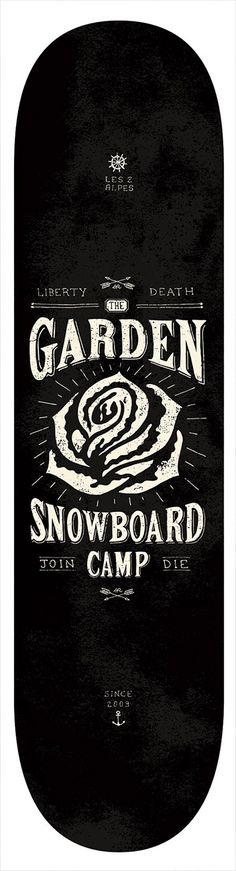 "Skateboard design for ""The Garden"""