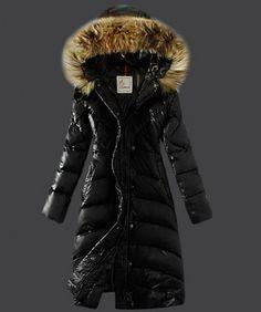 2013 New! Moncler Down Coat Women Hooded Windproof Black www.onlakemac.com...