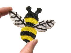 Bee Magnet nature insect by MarysPoshDoggieDiner on Etsy, $11.00
