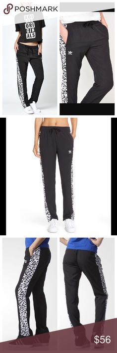 Adidas inked active black white track pants Brand new with $70 tags. Sizes available: XS, S, & M. I'm loving that these classic black and white Adidas track style pants are back in style - but these are even 100 times cooler! The 'ink' or paint splatter pattern on the side of the pants is absolutely awesome! Elastic waistband and pockets. Adidas inked active black white track pants. Adidas Pants Track Pants & Joggers