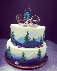 Outdoor Wedding. Camping Cake. Wedding Cake. Tiered Wedding Cake. Mountain Cake. Outdoor Cake. Outdoorsy Cake. Birthday Cake. Camp fire cake. Wedding Planning. Michigan Wedding. Wedding trends. Personal Cake.