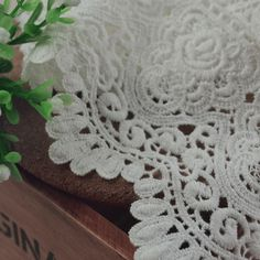 Guipure Lace Fabrics 9cm  Cotton Lace Trim Water Soluble Lace Embroidered Dress Accessory DIY Handmade Black Lace Fabric Cheap