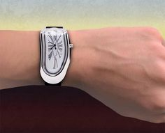 Salvador Dali's painting The Persistence of Memory inspired melting clock watch
