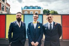 A Grey Wilden Bride Gown for a Fun and Unconventional Modern London Pub Wedding