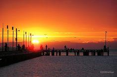 Frankston Pier, Sunset in Australia