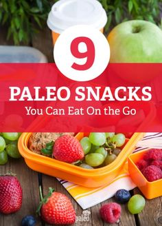 This is an awesome list of high energy, nutrient-dense Paleo snacks that you can make ahead and eat on the go.
