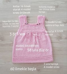 Baby Knit Dress Patterns – Knitting And We Baby Knitting Patterns, Baby Clothes Patterns, Dress Sewing Patterns, Clothing Patterns, Baby Cardigan, Knit Baby Dress, Baby Set, Models, Easy Knitting