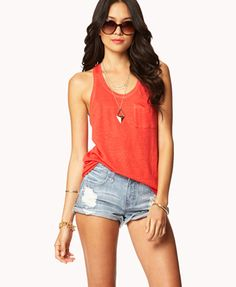 cute tank top- light and simple