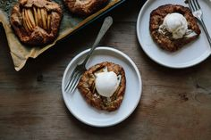 Pear Galettes with Spelt Crusts #SELFIndulge